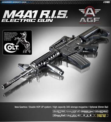 ACADEMY M4A1 R.I.S Airsoft BB Gun 6mm /20mm Rail Interface System ABS Parts comprar usado  Enviando para Brazil