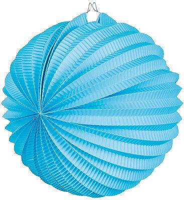 Lampion Papier Laterne 23cm blau NEU - Partyartikel Dekoration Karneval Fasching
