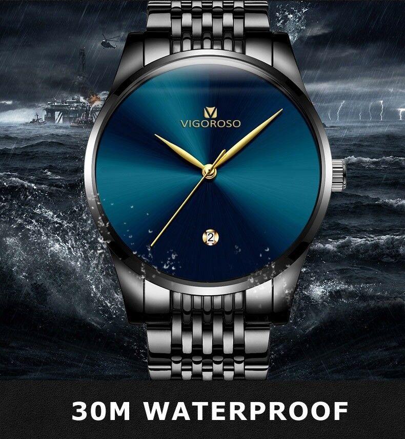 New Men Watches Waterproof Dat...