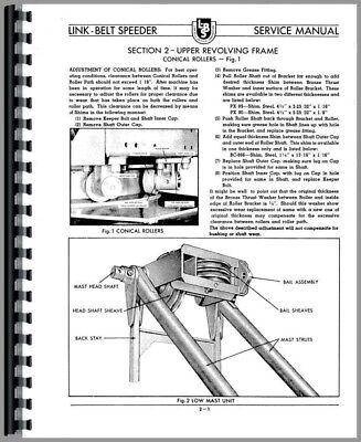 Operators Manual Link Belt Speeder Ls-51 Ls-58 Drag Link Crane