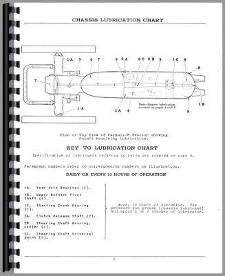 Operators Parts Manual 1940 International Farmall M Tractor Sn 7240-25370