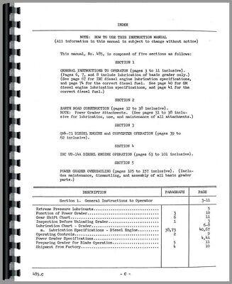 Service Manual Austin Western Super 300 Grader Sn 99sw-104 Up