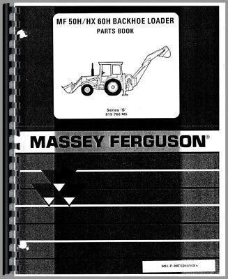 Massey Ferguson 50h 50hx 60h Tlb Tractor Loader Backhoe Parts Manual Catalog