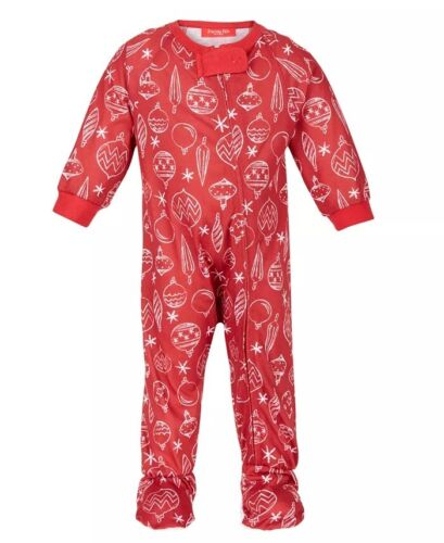 Matching Family Outfits Christmas Pajama Set Ornament Print Baby Size 12 Months