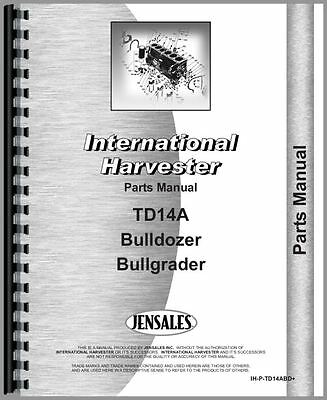 International Crawler Bulldozer Parts Manual Ih-p-td14abd