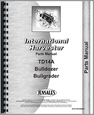 International Crawler Bulldozer Parts Manual Ih-p-td14abd