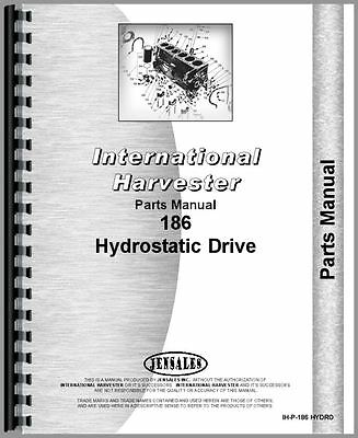 International Harvester 186 Hydro Tractor Parts Manual