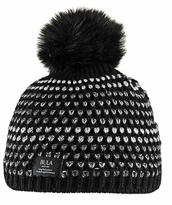 Bula Women's Bubble Beanie, Black, One Size NWOT