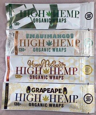 FREE GIFT🎁4x High Hemp Organic Natural Wraps PineApple🍍Banana🍌LemonAde🍋Berry Natural Pineapple Banana
