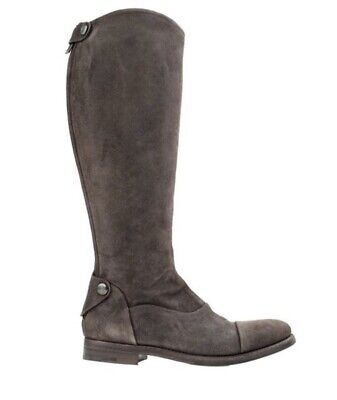 Alberto Fasciani Italy Brown Leather Suede Tall Riding Boots Size 37.5 US 7