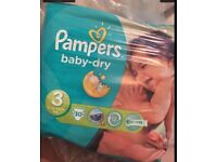 x6 packs unopened pampers