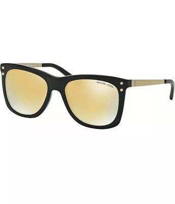 Michael Kors Lex Women's Black Sunglasses Mirrored Lens MK2046 31607P 54