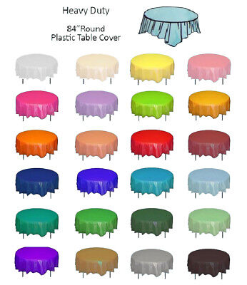 Color Circle Round Plastic Disposable Tablecloth Table Cover Wedding Party Decor