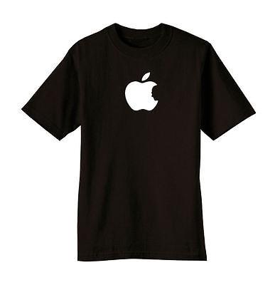 New Black Apple Steve Jobs Silhouette Memorial Tribute T Shirt Tee Mac Tshirt
