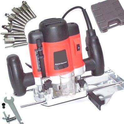 Fresadora eléctrica 55692 profesional 1300W con maleta y fresas adicionales