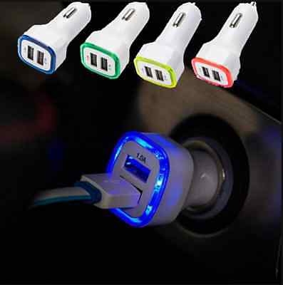 led dual usb car charger 2 port