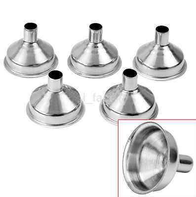 Stainless Steel Small Funnel Set 5Pcs Cooking Fill Liquid Oils Home Bar US