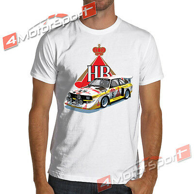 Rally Legend Group B Quattro S1 Vintage T Shirt White Or Gray S To 3Xl Audi