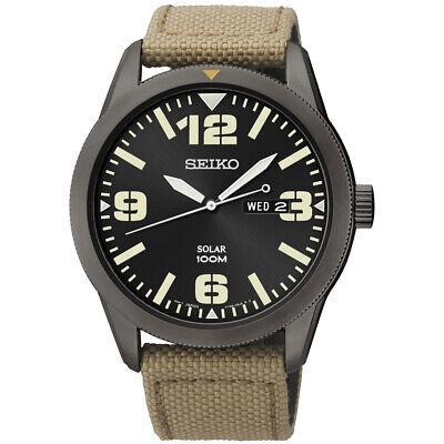 Seiko  Essentials 43 mm  Stainless Solar Men's Watch
