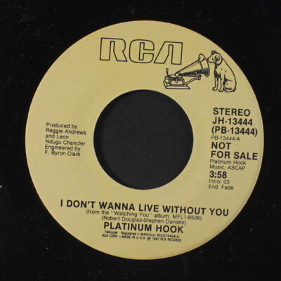 - PLATINUM HOOK: I Don't Wanna Live Without You / Mono 45 (Modern Soul 2-Step)