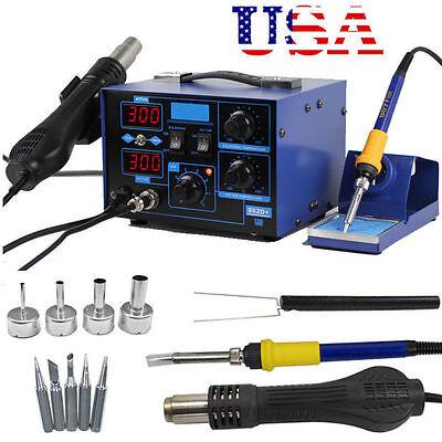 853D 2 3 1 Soldering Rework Station Solder Iron Smd Hot Air Gun Dc Power Supply