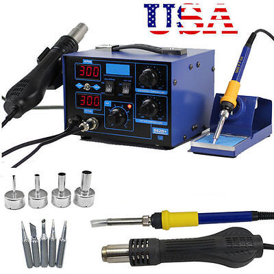 2 In 1 Soldering Iron Rework Stations Smd Hot Air Gun Desoldering Welder 862d V