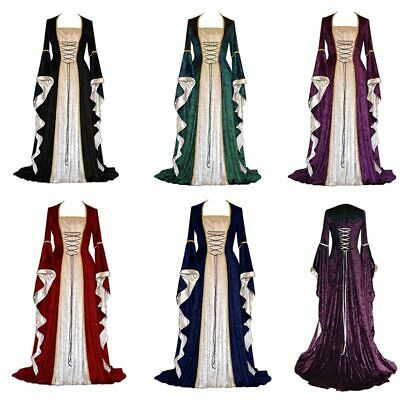 Castle Halloween Costumes (Medieval Dress Halloween Costumes Cosplay Palace Noble Long Robes Ancient)