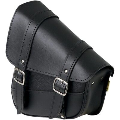 Willie & Max Left Side Black Leather Swing Arm Saddlebag 1986-17 Harley Softail Left Side Saddlebag