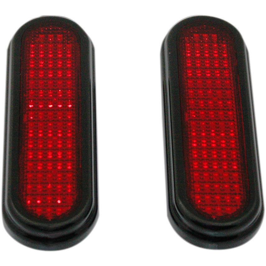 Custom Dynamics Universal Flatz LED Run Brake Turn Signals Black Trim Clear