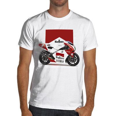 Classic Marlboro YZR500 Racing Motorcycle Soft T-Shirt 500 cc Moto GP Yamaha