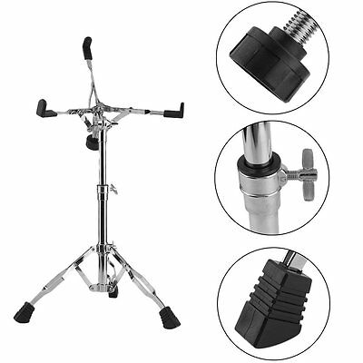 Snare Drum Stand Holder Tripod Heavy Duty Braced Chrome Percussion Drummer Gear