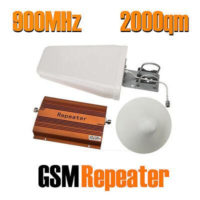 2000qm GSM 900 MHz Repeater Handy Verstärker Booster D-Netz Signal Antenne