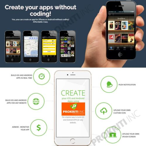 Make and Sell mobile APP without coding > online> lifetime Access> Unlimited APP