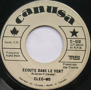 CLEO-MO-Ecoute-dans-le-vent-BOB-DYLAN-CANADA-FRENCH-039-60s-MONTREAL-Quebec-45