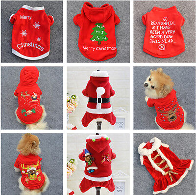 New Pet Warm Dog Cat Jacket Coat Puppy Clothes Winter Sweater Christmas Apparel  - Pet Christmas Clothes
