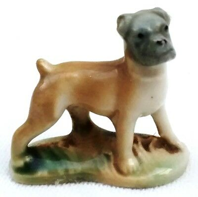 VINTAGE MINIATURE -  CERAMIC DOG BULLDOG..
