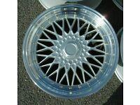 "Silver Polished x4 17"" Dare Rs Alloys 5x100 Audi TT A3 VW Polo Bora Ibiza"
