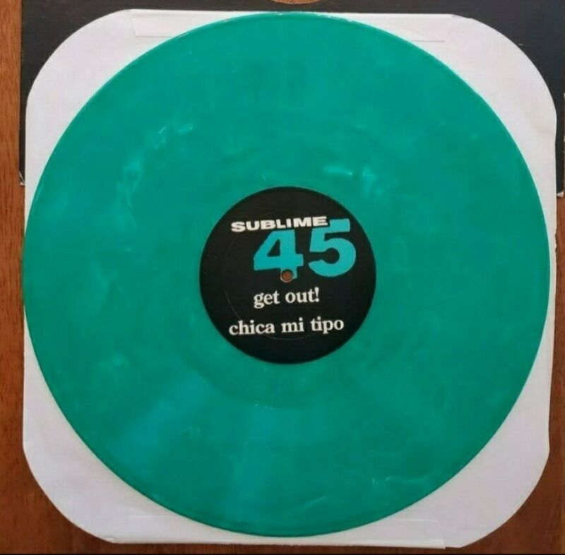 SUBLIME RARE GREEN MARBLED DATE RAPE 45 SKUNK RECORDS BRADLEY NOWELL