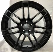 SET OF 4 USED 18x8 AUDI RS-STYLE MATTE BLACK 5/112 ET:42 Bayswater North Maroondah Area Preview