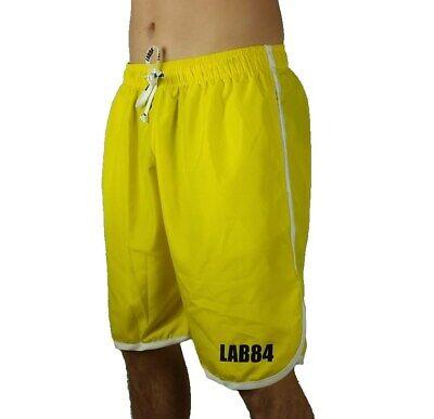 Lab84 Shorts Kostüm Shorts Meer Sport S7 SHM1002Basic Gelb 4058
