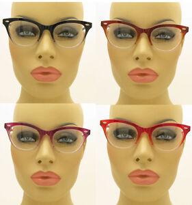 New-50s-Vintage-Style-Clear-Lens-Gradient-Frame-Cat-Eye-Glasses-Eyeglasses