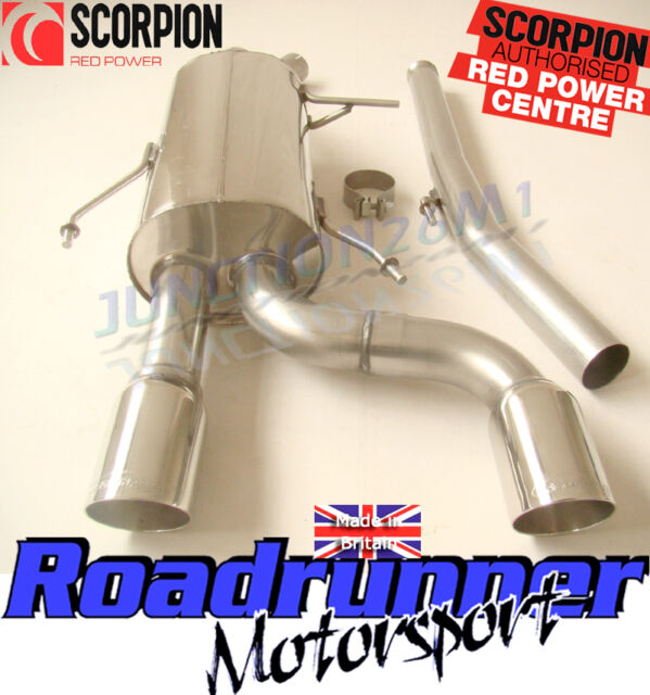 Scorpion SRNS019D Clio 182 Exhaust System Cat Back Stainless Non Res Daytona Tip
