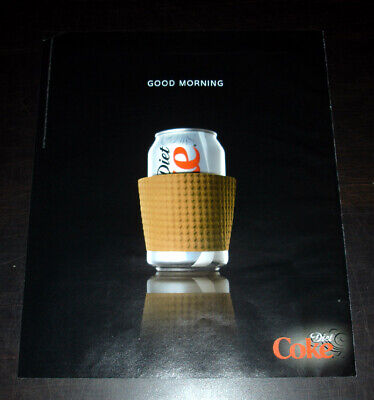 DIET COKE 1-Pg Magazine Print Ad 2007 'Good Morning' can in coffee cup sleeve