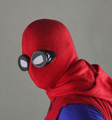 2017 Spider-Man: Homecoming Peter  Hoods Mask Glasses Halloween Fancy Ball Props](2017 Halloween Props)