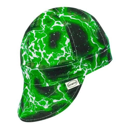 7 1/2 - Rasco FR Non-FR Welding Caps - Green Lightning 6 QTY - Fast Shipping