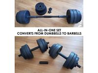 18kg Dumbbell & Barbell Set all-in-one