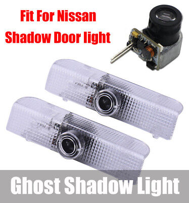 LED Car Door Welcome Laser Projector Logo Courtesy Ghost Shadow Light for Nissan (Nissan Coupe Cars)