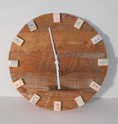 My Exclusive Design~One Only~Reclaimed Barn Wood~13 round Mah Jongg Wall Clock