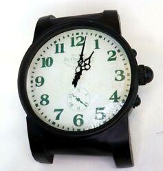 Heavy Metal Wrist Watch Wall Clock Industrial Black Large 16 Les Deux Magots