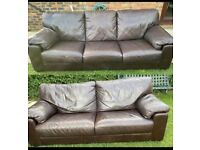 Italian leather brown sofas can be delivered